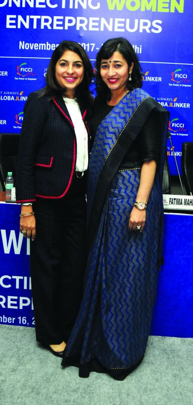 India Ambassador, Women's Entrepreneurship Day and co-founder, GlobalLinker, Summi Gambhir and Vasvi Bharat Ram, National President FICCI Ladies Organisation (FLO) hhh