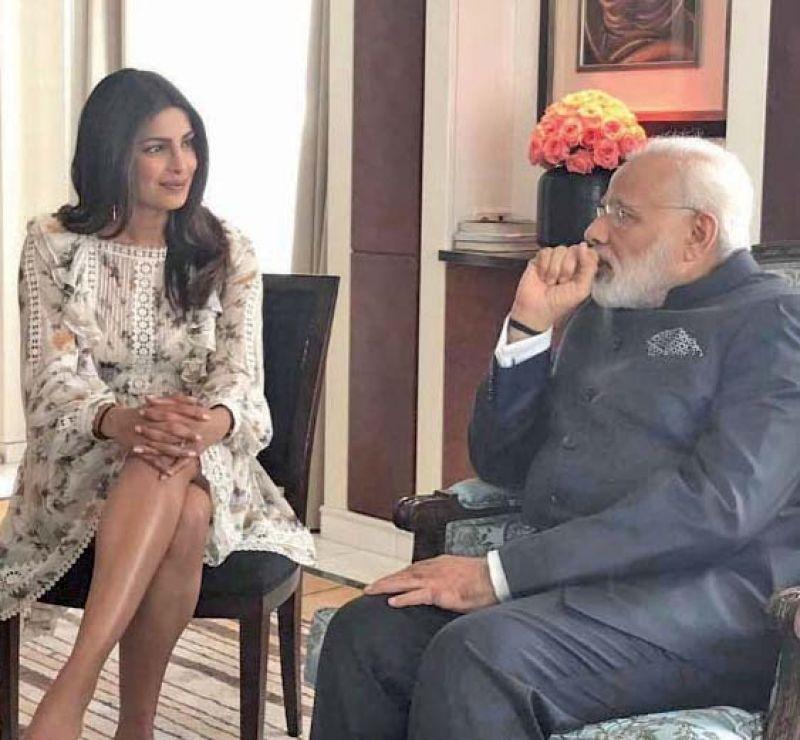 Priyanka Chopra with the Prime Minister. (Photo: Instagram)