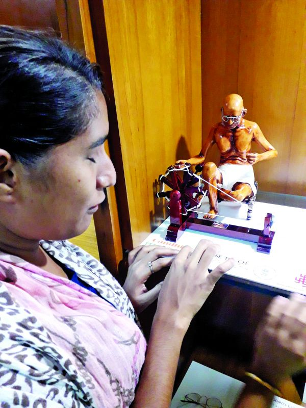 Tactiles for Gandhi exhibition for visually impaired at IGNCA