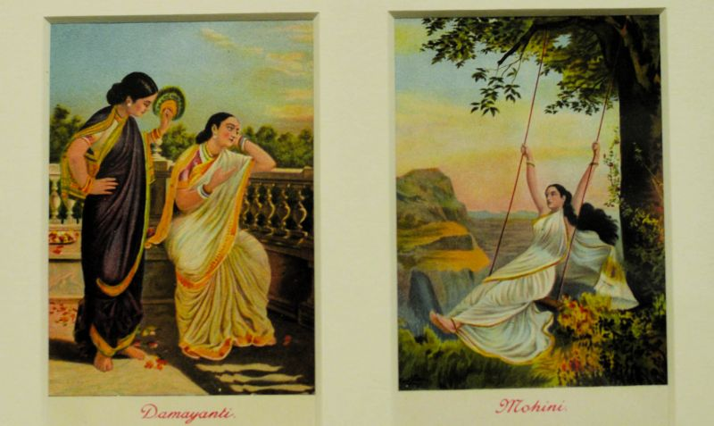 Postcards based on Raja Ravi Varma's paintings