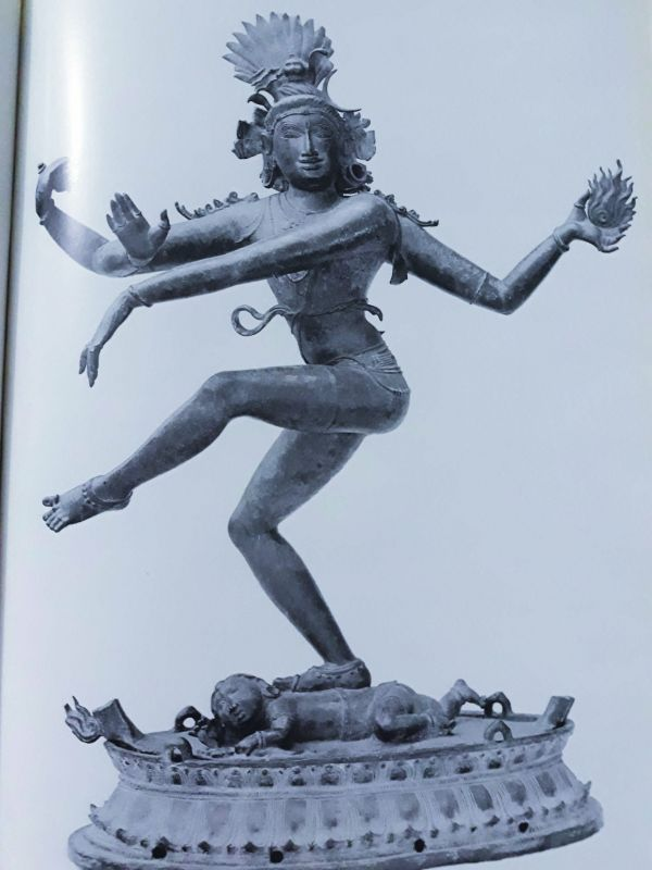 A bronze sculpture of the Dancing Shiva