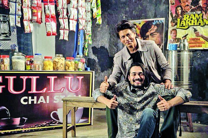 Bhuvan Bam with Shah Rukh Khan