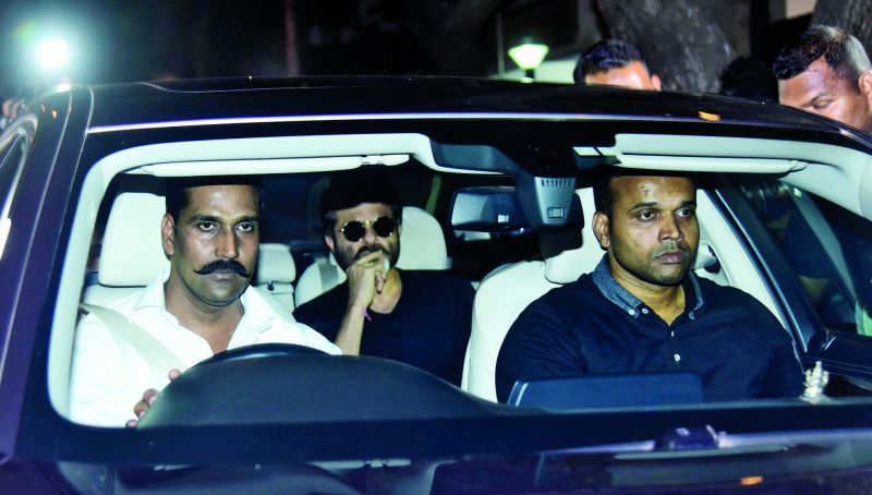 Anil Kapoor on his way to the airport