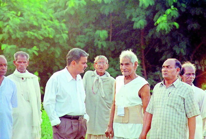 Dr Bharat Vatwani with Baba Amte