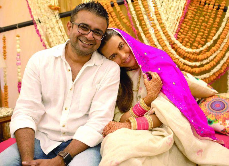 The bride with Ashish Parmar