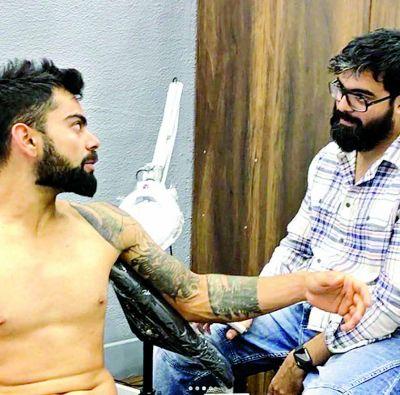 Virat Kohli Gets A New Tattoo
