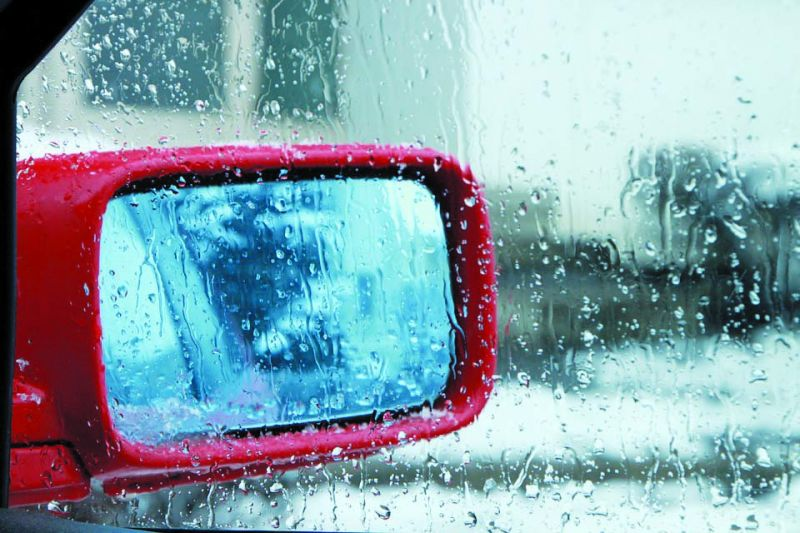 Dry side  windows in cars make sure that you can see the side mirror