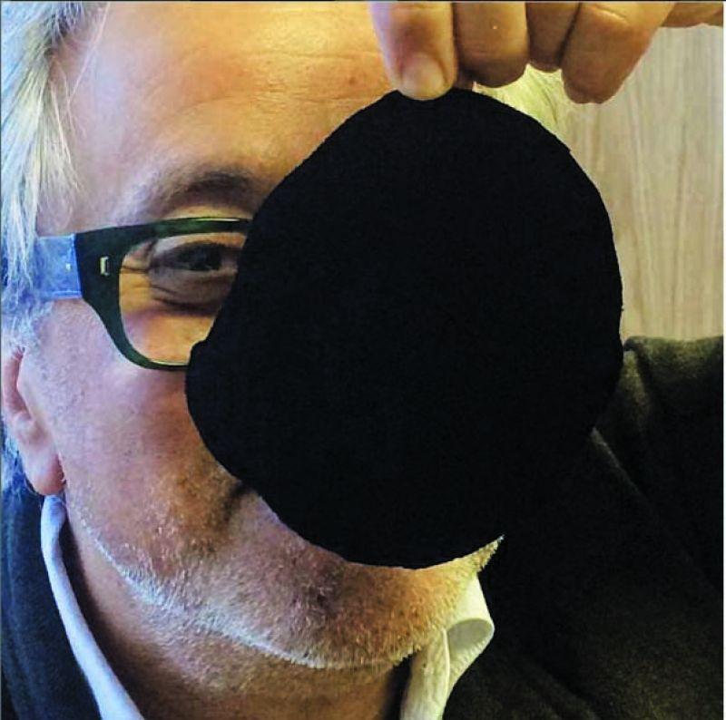 Anish holding a specimen of Vantablack (Photo: Instagram)