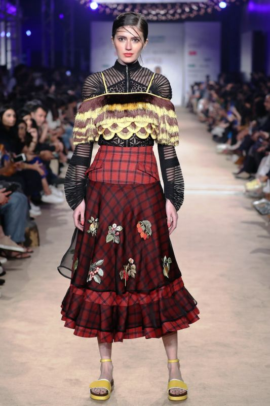 The collection showcased a strong aura of dynamism though vibrant colours and architectural silhoutees. (Photo: File)