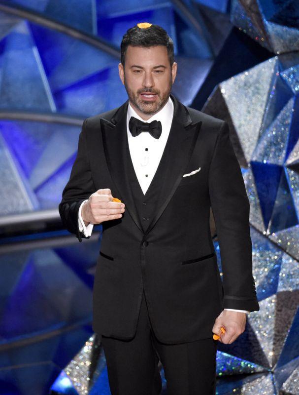 Host Jimmy Kimmel speaks at the Oscars. (Photo: AP)