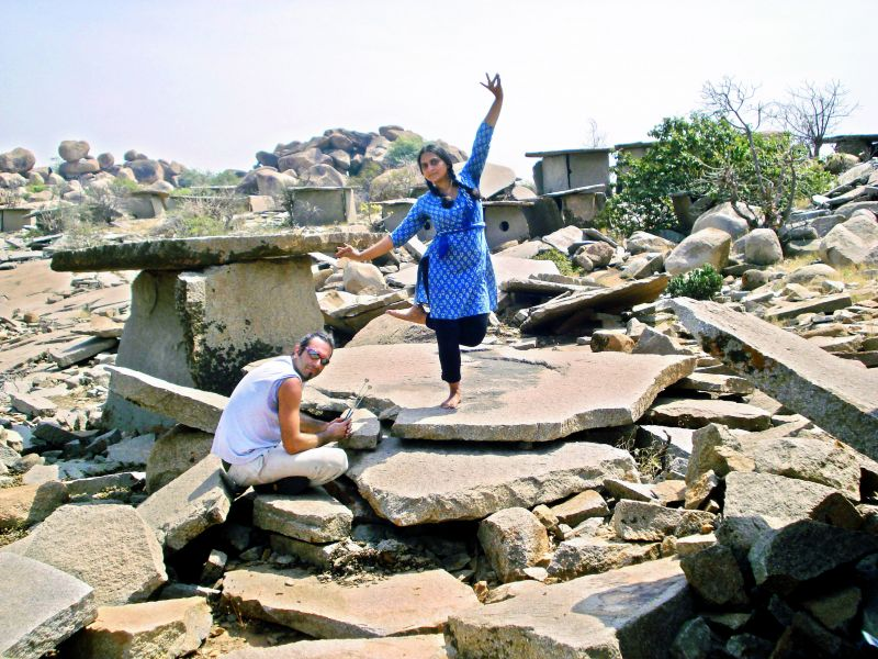 At the Hirebenkal megalithic site