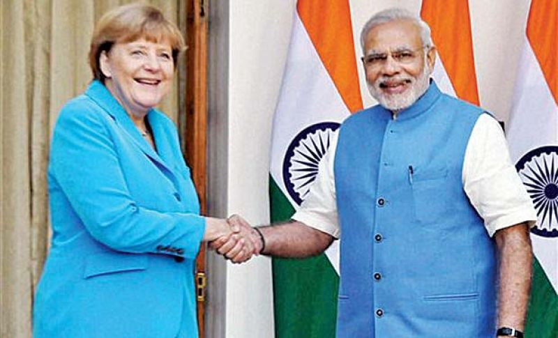 Angela Merkel with Narendra Modi. (Photo: AP)