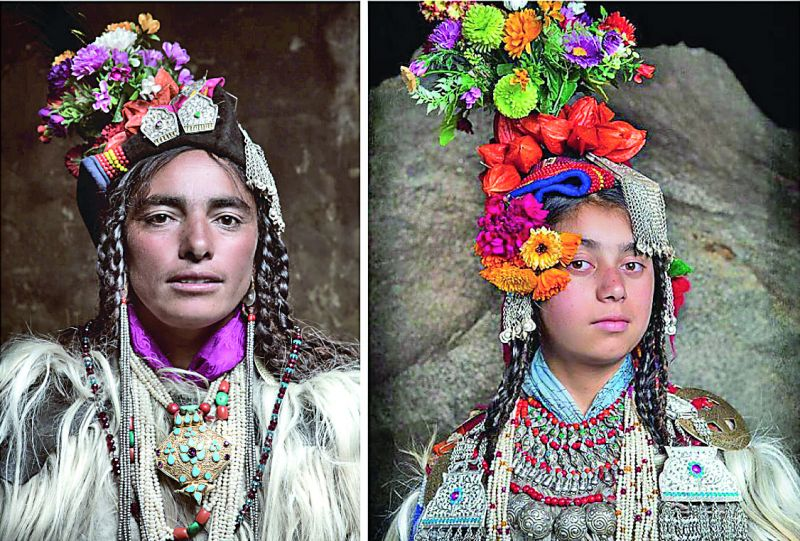 Women from the Drokpa tribes found on the foothills of the Himalayas (Photos: Jimmy Nelson and Trupal Pandya)