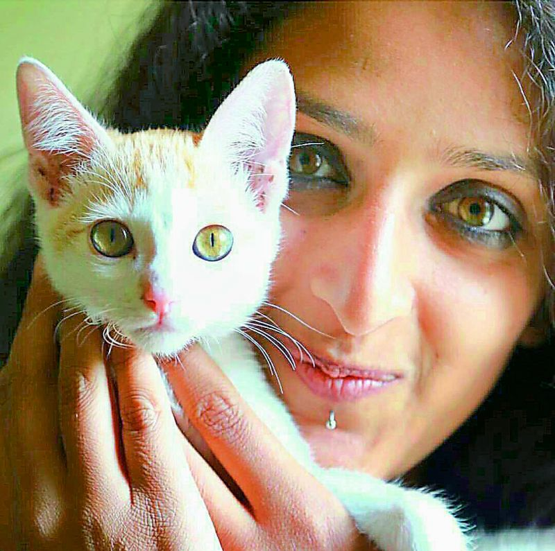 Shreya, an artist who owns a cat, says it's her Eva who taught her to enjoy life.