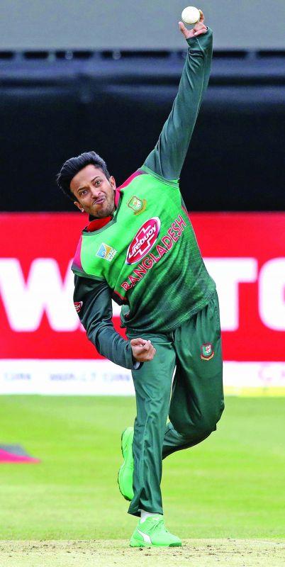 Bangladesh all-rounder Shakib Al Hasan.