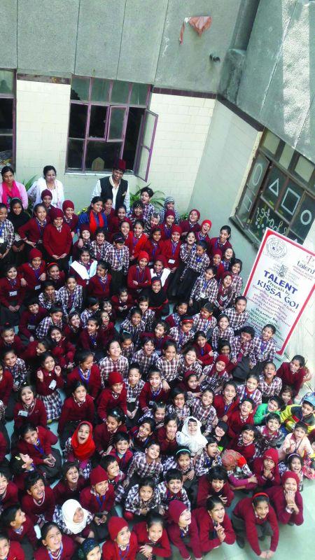 Students at Irshad's  organisation.