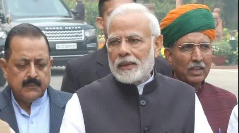 Addressing the floor leaders, Prime Minister Modi said, 'The government is always receptive to the issues raised by all political parties.'  (Photo: ANI)
