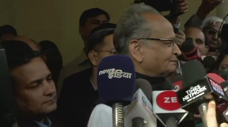 'We are confident that the Congress will get a clear majority and will for its government in Rajasthan,' Gehlot told PTI. (Photo: ANI | Twitter)