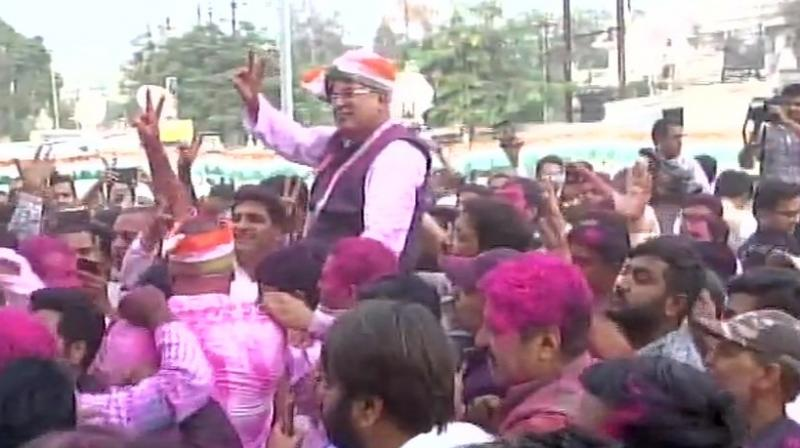 The Chhattisgarh Pradesh Congress Committee chief, who is seen as one of the contenders for the chief minister's post along with T S Singhdeo, said it was for the high command to decide who would be chief minister. (Photo: ANI | Twitter)