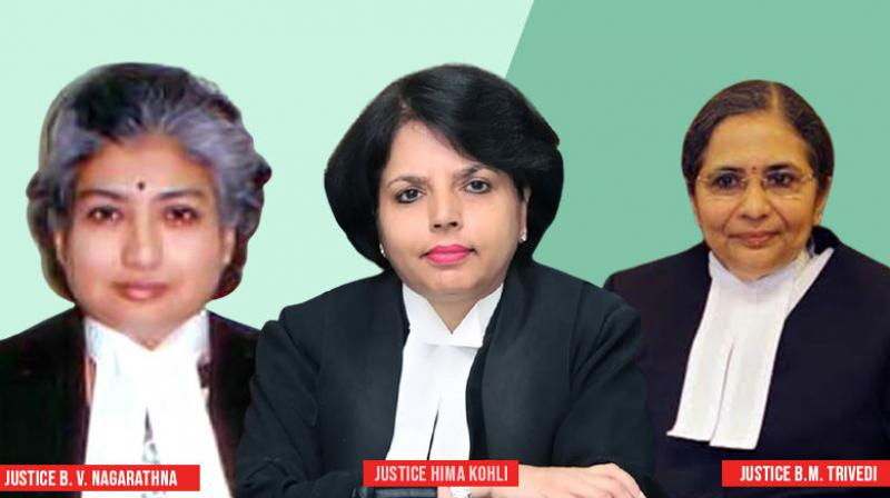 The other two women judges, except Justice Nagarathna  are Justice Hima Kohli, chief justice of the Telangana high court, and Justice Bela Trivedi of the Gujarat high court. (Twitter)