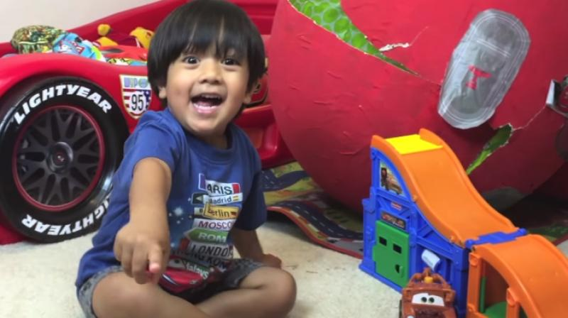 Ryan is the star of the YouTube channel Ryan'sToysReview and placed at number eight on Forbes' list. (Photo: Ryan'sToysReviews)