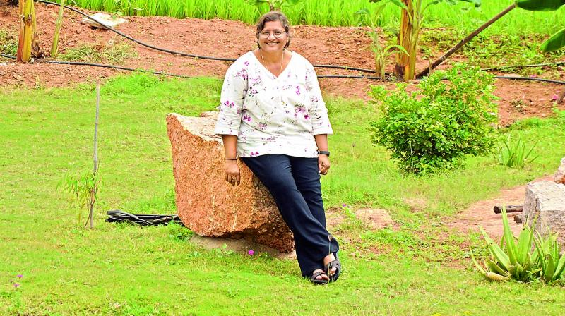 Purnima at her farm