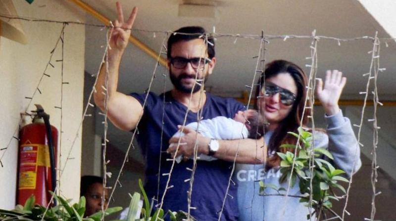 Saif and Kareena Kapoor Khan while brining Taimur home for the first time.