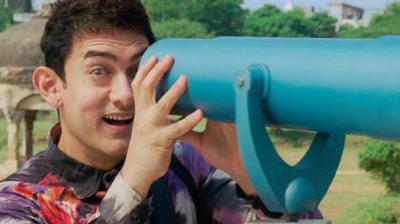 Aamir Khan in a still from 'PK'.
