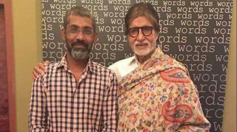 Amitabh Bachchan posed with Nagraj Manjule. (File photo)