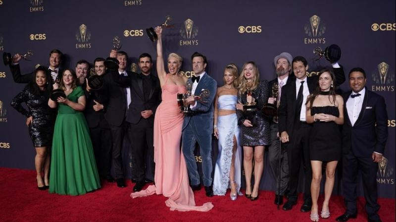 Brett Goldstein, Hannah Waddingham, Jason Sudeikis, Juno Temple and the cast and crew from