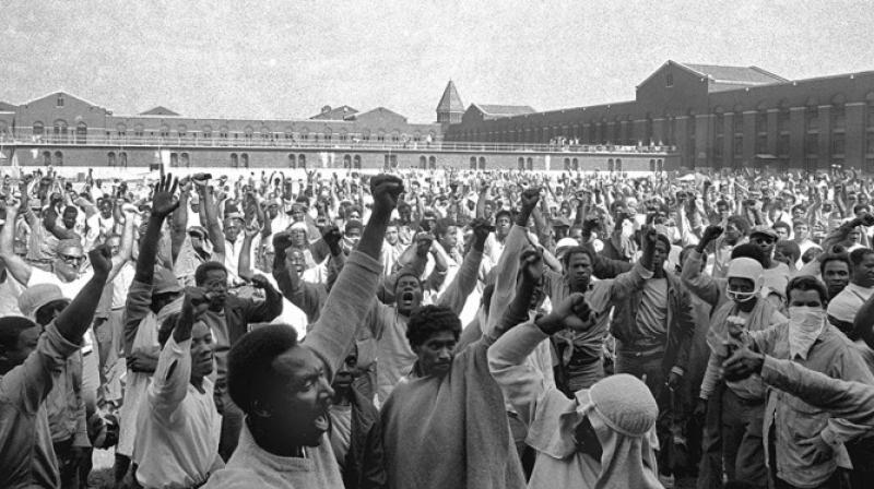 A scene from 'Attica', which tells the story of America's longest prison uprising that began on September 8, 1971.