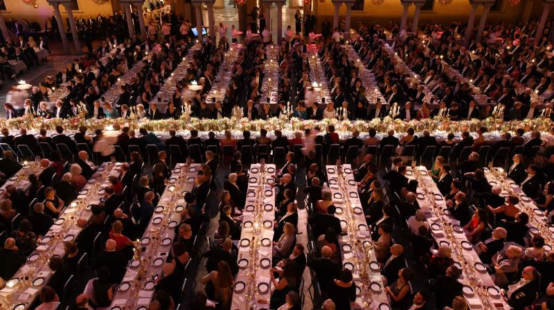 File photo shows guests waiting for the desserts during royal banquet to honour the laureates of the Nobel Prize 2019 following the Award ceremony in Stockholm, Sweden. — AFP