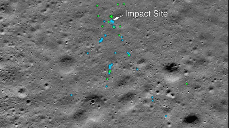 NASA's Moon-orbiting spacecraft has found the debris of Chandrayaan 2's lander Vikram on the surface of the Moon, the US space agency confirmed on Tuesday, nearly three months after India's ambitious mission made a hard landing near the uncharted lunar south pole. (Photo: Twitter/ NASA)