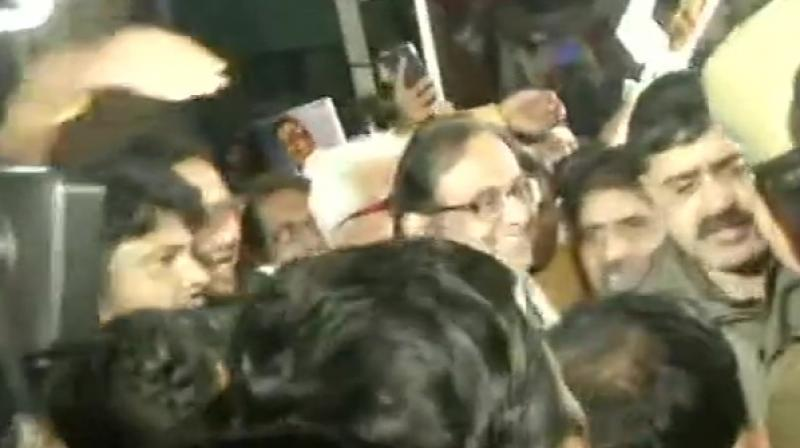 Chidambaram's son Karti, while expressing happiness, said the Congress MP will attend the ongoing Winter Session of Parliament on Thursday. (Photo: ANI)