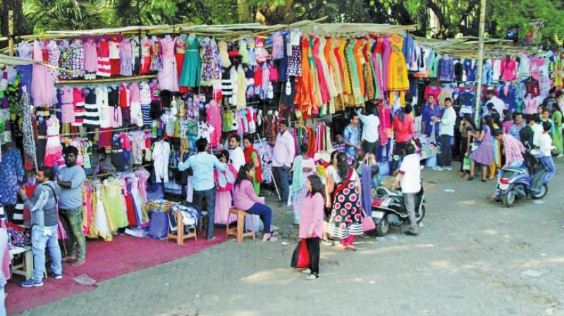 File picture of stalls at Linking Road.