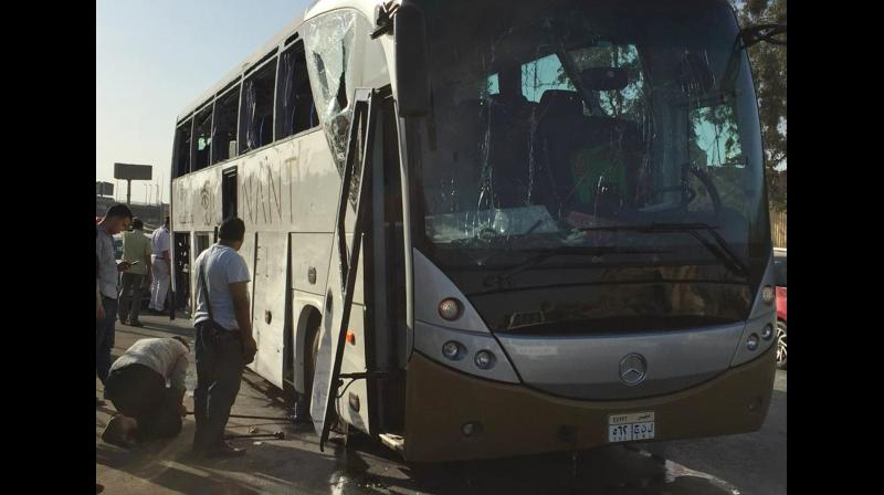 The bus was carrying at least 25 people mostly from South Africa, officials added. (Photo:AP)