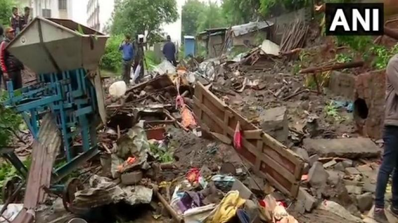 'Six people have died while three others sustained injuries after a portion of a compound wall of Sinhgad College collapse here. We will take immediate action against the builder and the one who owns the retaining walls. A risk assessment of 287 sites had been done, this site could not be assessed as no permission was taken for it,' the District Magistrate said. (Photo: ANI)
