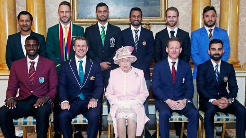 All ten captains of the participating teams in the Cricket World Cup paid a visit to Queen Elizabeth on Wednesday. (Photo: BCCI/TWitter)