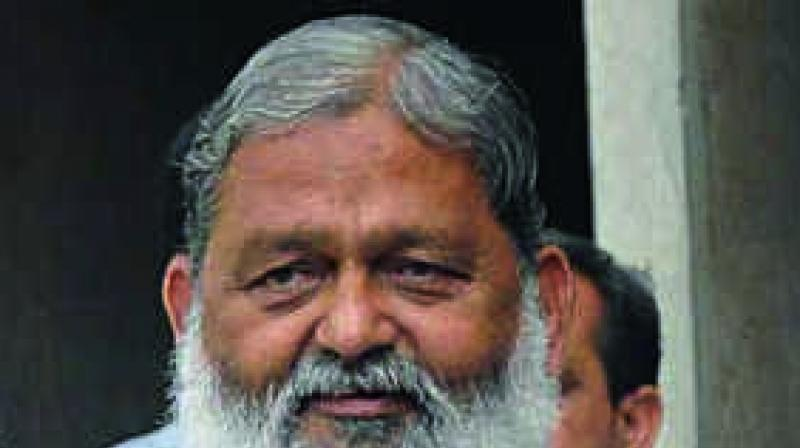 Haryana Health Minister and BJP leader Anil Vij demanding that the word 'Adhinayak' be removed from the national anthem, insisting it was like praising a dictator. (Photo: File)