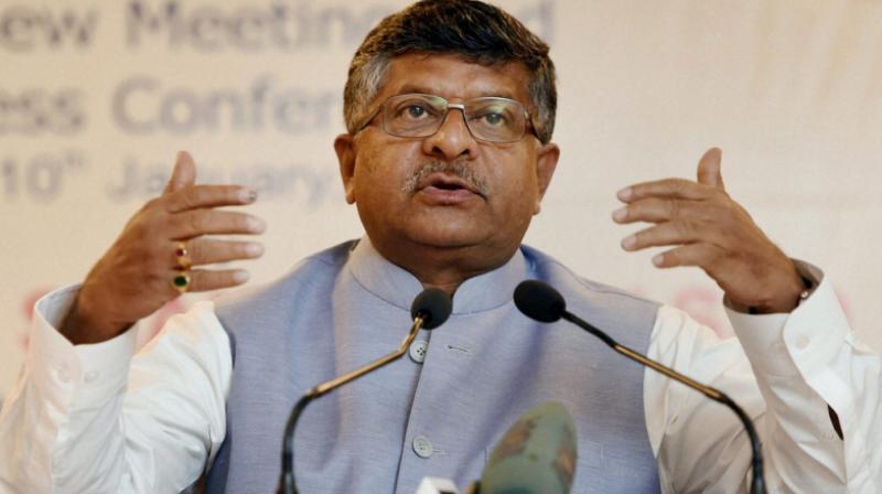 Law and IT minister Ravi Shankar Prasad. (Photo: PTI)