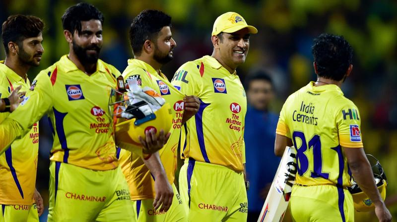 TAKING A BACK SEAT: Chennai Super Kings Skipper MS Dhoni after winning the first match of 12th edition of the Indian Premier League 2019 against Royal Challengers Bangalore. PTI Photo