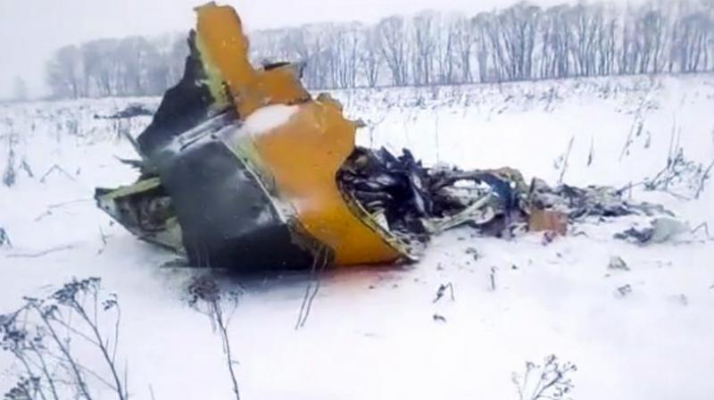 The pilots of the An-148 regional jet did not report any problems before the twin-engine aircraft plunged into the field about 40 kilometres (25 miles) from Domodedovo Airport, authorities said. (Photo: AP)