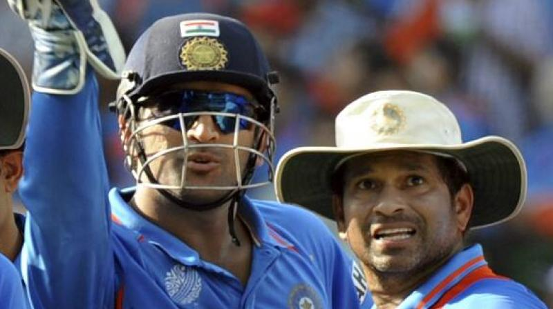 Tendulkar also added that MS Dhoni's partnership with Kedar Jadhav was slow and it lacked positive intent. (Photo: AFP)