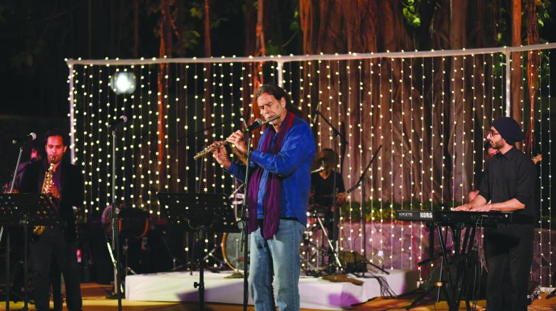 German ambassador Walter J. Lindner thrilled a select audience in the Capital when he chose to play the flute at a concert on a pleasant Sunday evening recently.