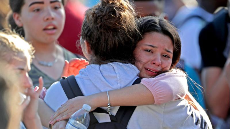 The package was spurred by the shooting rampage three weeks ago that killed 17 students and faculty members at Marjory Stoneman Douglas High School in Parkland and led to an extraordinary lobbying campaign by young survivors of the massacre. (Photo: AP)