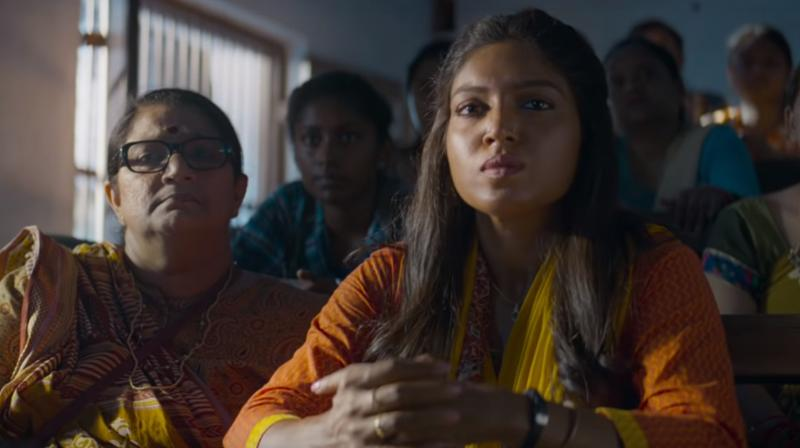Bhumi Pednekar in the still from 'Bala'. (Photo: YouTube)