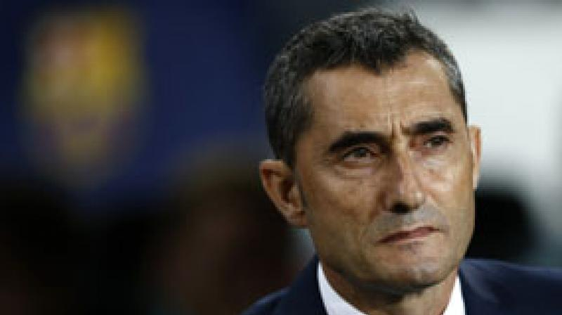 Valverde said his team's priority is to win La Liga, rather than the Champions League, in which they face Manchester United in the first leg of the quarter-finals on April 10. (Photo: AP)
