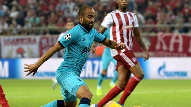 Tottenham silenced the raucous crowd with two goals in four minutes midway through the opening half, first with Harry Kane's well-struck penalty and then a stunner by Lucas Moura. (Photo:AFP)