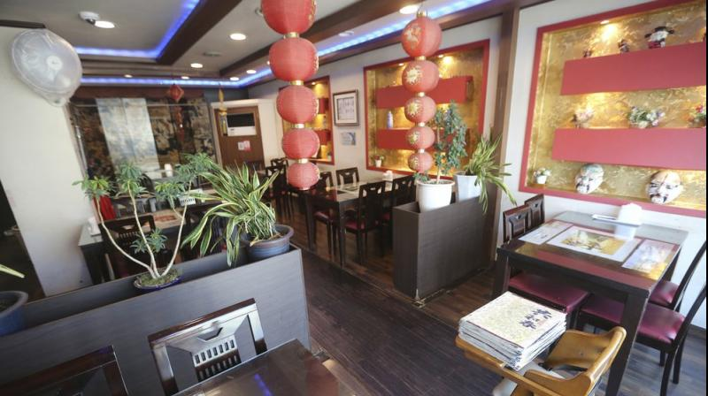 Picture shows an empty Chinese restaurant is seen at the Chinatown in Incheon, South Korea. AP photo