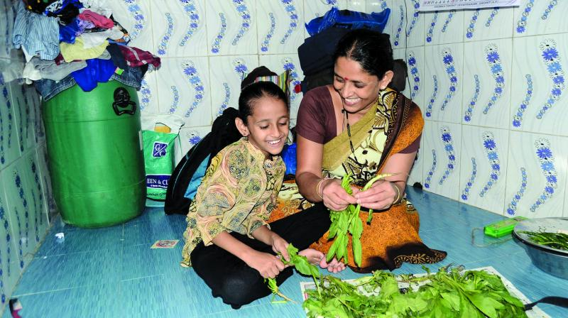 Goli at home with her mother. (Photo: Shripad Naik)